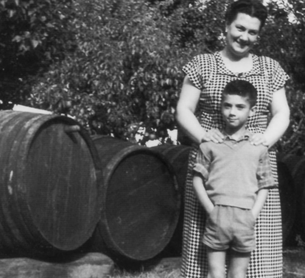 Marco Lombardini with his mother, Alfa Righi